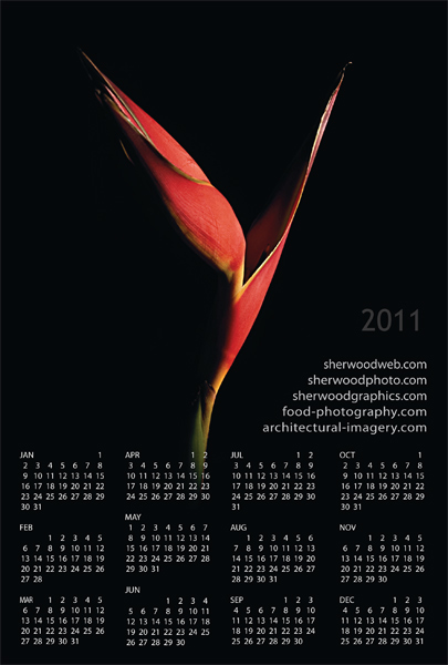2011 Calendar Card with Flower images